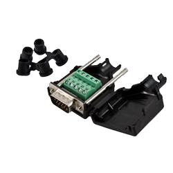 15-Pin HD Male Connector, Terminal Block Type