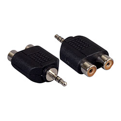 Adapter, 3.5MM Stereo Male To 2RCA Female