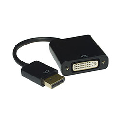Adapter, DisplayPort Male to DVI Female