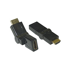 Adapter, HDMI Male to HDMI Female, 360 Degree