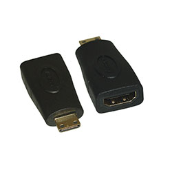 Adapter, Mini HDMI Male to HDMI Female