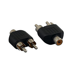 Adapter, RCA Female to 2 RCA Male