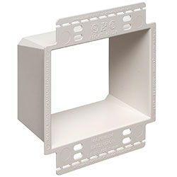 Box Extender With Larger Flange, 2-Gang, 25 Pak