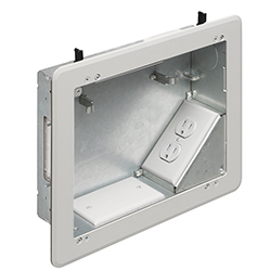 Recessed TV Box fo Metal Raceway, Power/Low Volt