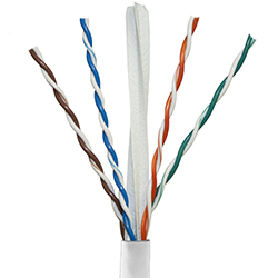 Cat 6, 550 MHz, White Jacket