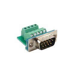 Connector, DB9 (M) To Terminal, Panel Mount