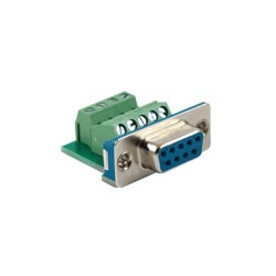 Connector, Db9 (F) To Terminal, Panel Mount