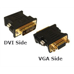 Adapter, DVI Male To VGA Female