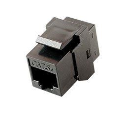 Keystone, Cat 5e, RJ45 Female, Black