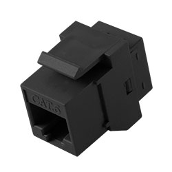 Keystone, Cat 6, RJ45, Black
