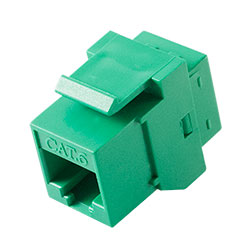 Keystone, Cat 6, RJ45, Green