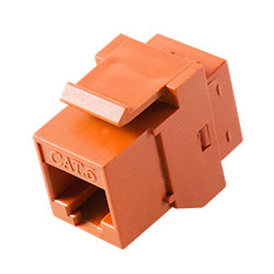 Keystone, Cat 6, RJ45, Orange