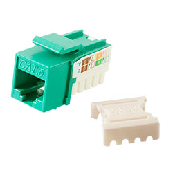 Keystone, Cat 6, RJ45, Punchdown, Green