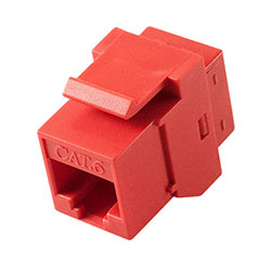 Keystone, Cat 6, RJ45, Red