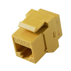 Keystone, Cat 6, RJ45, Yellow
