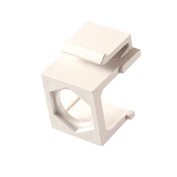 Keystone, Insert Hex Hole, White