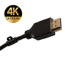 Slim Line HDMI 2.0 Cable Adapter Loop Blk