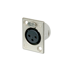 Neutrik XLR Panel Mount Connector, 3-Pole, Female