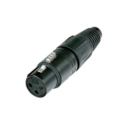 Neutrik XLR Cable Connector, 3-Pole, Female, Black