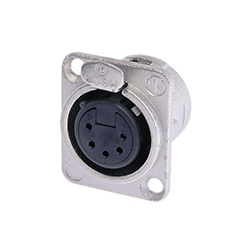 Neutrik XLR Panel Mount Connector, 5-Pole, Female