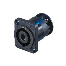 Neutrik Speakon Panel Mount Connector, 4 Pole