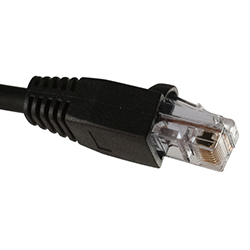 Cat 5e, RJ45 to RJ45, Black Jacket, Plenum