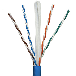 Cat 6, 550 MHz, Blue Jacket, Plenum