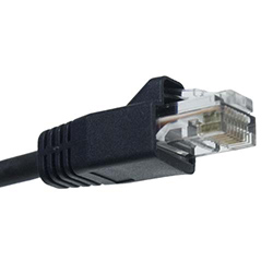 Cat 6, RJ45 to RJ45, Black Jacket, Plenum