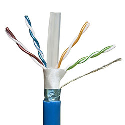 Shielded, Cat 6a, Blue Jacket, Plenum
