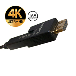 HDMI 2.0 AOC Cable w/Detach Adapter, Plenum