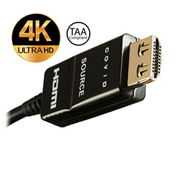 HDMI 2.0 Fiber Cable, Shielded, Plenum