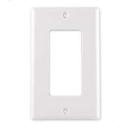 Plastic 1Gang With 1-Decora Hole Frame, White