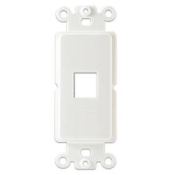 Plastic Decora with 1 Keystone Hole, White