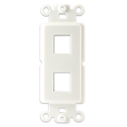 Plastic Decora with 2 Keystone Hole, White