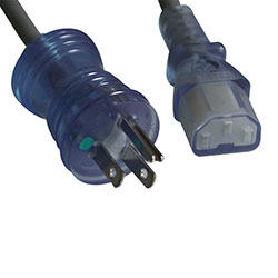 Power Cord, Hos., N5-15P to C13, 18 AWG