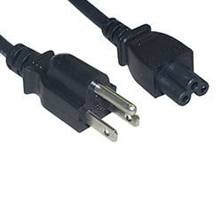 Power Cord, N5-15P to C5, 18 AWG