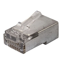 RJ45 Connector, Cat6, Shielded, w/Liner