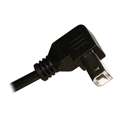 USB 2.0 Cable, Right Angle, A to B