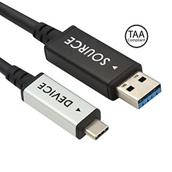 Plenum, USB3.2 Gen2 AOC A Male to C Male