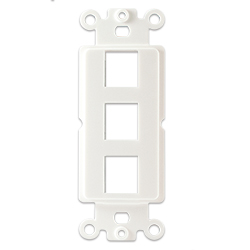 Plastic Decora with 3 Keystone Hole, White