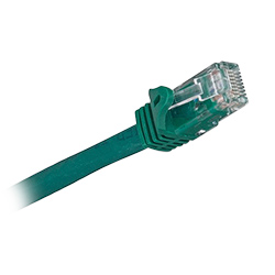 Cat 6a, RJ45 to RJ45, Green Jacket